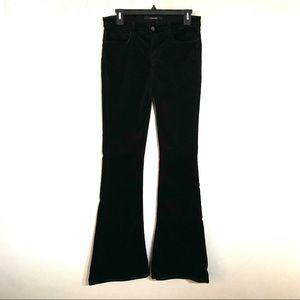 J Brand Velvet Martini Black Flare Jeans Size 28